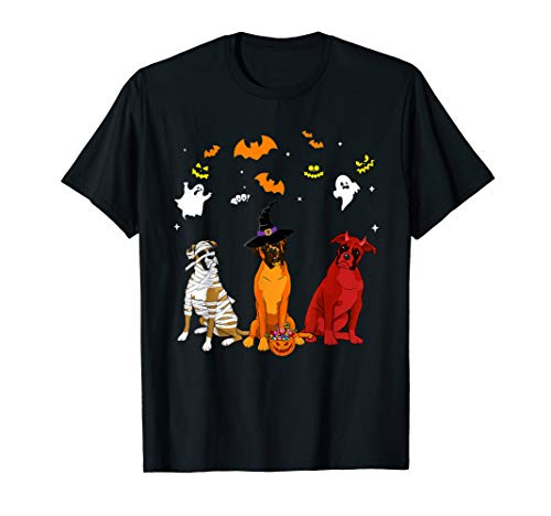 Best Boxer Dog Halloween Costume (Halloween Boxer Dogs Lovers Mummy Witch Demon Costumes)