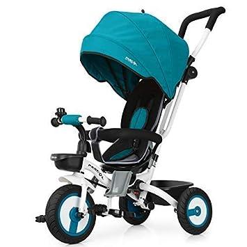 Fascol Tricycle Evolutif Velo Bébé Pliable Poussette avec Canne et Roues  Silencieuses pour Enfant 6 Mois 46fe139b12a