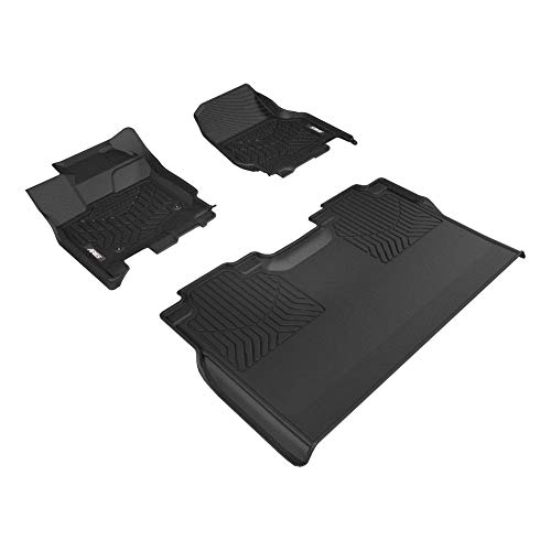 ARIES 2803009 StyleGuard XD Black Custom Truck Floor Liners for Ford F-150, 1st and 2nd Row