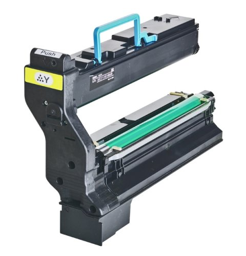 002 Yellow Laser Toner Cartridge - INKUTEN Konica Minolta MagiColor 5430 DL & 5450 Replacement 1710580-002 Yellow Laser Toner Cartridge