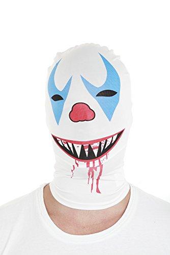 Morphsuits Morphmask Premium Killer Clown, White/Red/Blue/Black, One Size