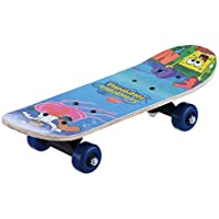 Domenico Fantasy India Wooden Assorted Design Skate Board for Age Group 4-7Yrs 17x5-inches - Assorted Cartoon Graphic Prints