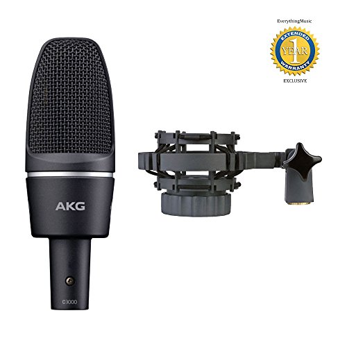 rmance Large-Diaphragm Condenser Microphone with H 85 Shock Mount and 1 Year Free Extended Warranty (Akg Large Diaphragm Condenser Microphone)