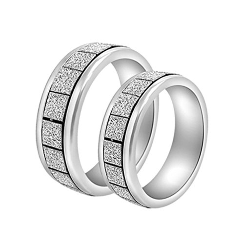 1 set of 2 pieces of couple rings for a couple whose heart exactly fits into each other. Each set includes a bigger male ring and a smaller female ring. The rings are silver plated and is a beautiful reminder of your everlasting love. by ARIHANT GEMS & JEWELS