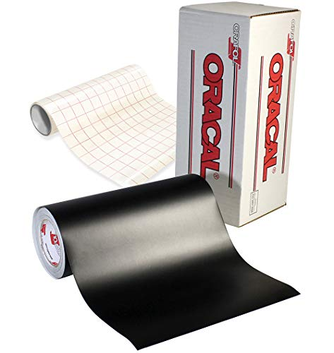 ORACAL 651 Black Matte Self-Adhesive Craft Vinyl 12