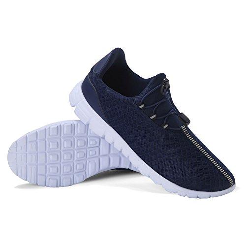 Qansi Heren Sneakers Mush Ultra Lichtgewicht Atletisch Tennis Met Ademende Waterschoenen Klompen Sandalen Blauw