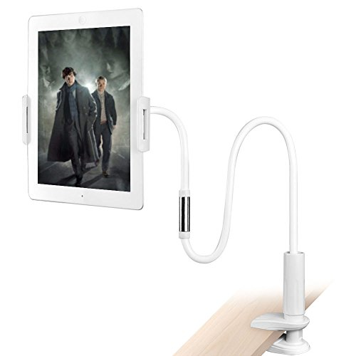 aceyoon Lazy Bracket for iPad or Tablet on Bed or Table Holder Mount 1M Long Arm Flexible Gooseneck Clip Universal Desk Stand for 4.5 - 10.6 inch and 7 inch and iPhone / Android