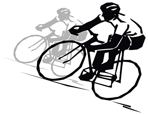 4 All Times Cyclist Automotive Car Decal for Cars, Trucks, Laptops (8.0