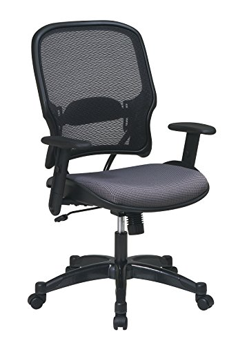 Space Seating 15-Series Professional AirGrid Back and Steel Fabric Seat Managers Chair, Multicolor