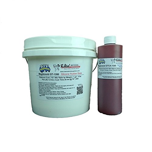 Magikmold GT-1350 45A Platinum Cure RTV Silicone 9.9 lbs Kit by Raw Material Suppliers