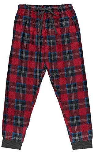 North 15 Men's Super Soft, Plaid Minky Fleece Lounge Pants -1220-Design2-XL (Fleece Plaid Lounge Pants)