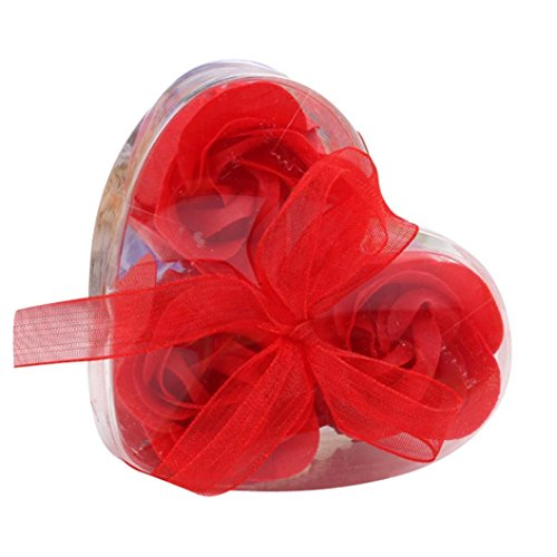 Hot Sale!!Woaills Wedding Party Gift Petal Bath Body Soap Scented Rose Flower (Red) (Thank You Note After Receiving A Gift)
