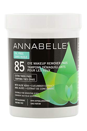 Annabelle Oil-Free Eye Makeup Remover Pads, 85 pads