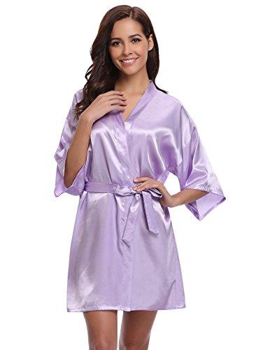 Nuisette Sortie Femme Violet Lingerie Déshabillé De Robe Nuit Vêtements Aibrou Mariée Chambre Kimono Robes Bain Satin Peignoir Dentelle Spq0OWTYnz