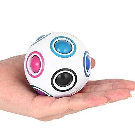 XuBa Nouvelle Arc-en-Magie Ball Sph\u00e9rique Cube Magique Ball Anti-Stress Casse-Balles Enfants Jouets \u00c9ducatifs pour Enfants Fidget Cubes Show