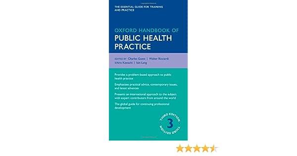 Oxford handbook of public health practice oxford medical handbooks oxford handbook of public health practice oxford medical handbooks 9780199586301 medicine health science books amazon fandeluxe Gallery