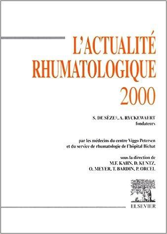 Téléchargement L'Actualité rhumatologique 2000 epub pdf