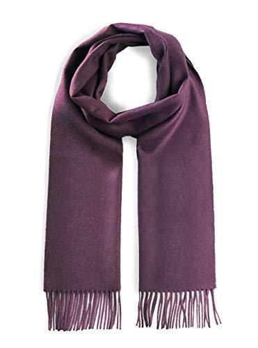 Luxury 100% Pure Baby Alpaca Wool Scarf for Men & Women - A Great Gift Idea in Many Colors (Merlot)