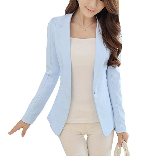 light blue blazer - 4