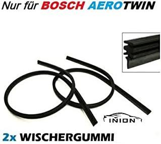 400 inkl Montageanleitung 2x INION/® Scheibenwischergummis Ersatzwischergummis Wischergummis f/ür BOSCH AEROTWIN A538S 3397007538 Scheibenwischer 650