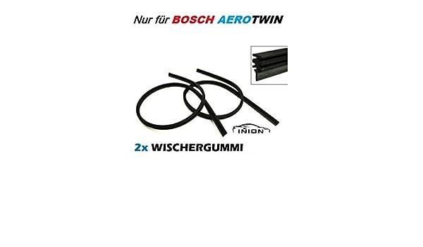 2 gomas limpiaparabrisas de repuesto marca INION, para limpiaparabrisas BOSCH Aerotwin A934S 3397118934 limpiaparabrisas 555/555 incl.instrucciones de ...