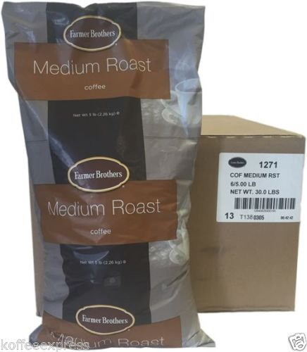 Farmer Brothers Medium Roast Ground Coffee 6 X 5lbs Ground Coffee 1271 by Farmer Brothers