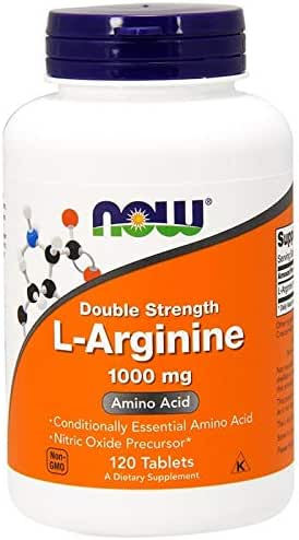 L-Arginine Double Strength Amino Acids 1000 mg 120 Tablets