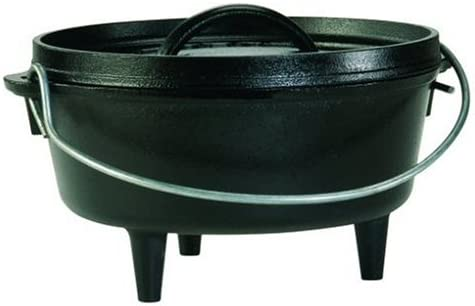 Amazon Com Lodge Camp Dutch Oven 2 Qt Kitchen Dining