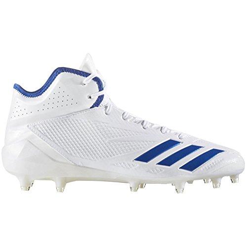 adidas Adizero 5-Star 6.0 Mid Cleat - Men's Football 16 White/Collegiate Royal/Collegiate Royal