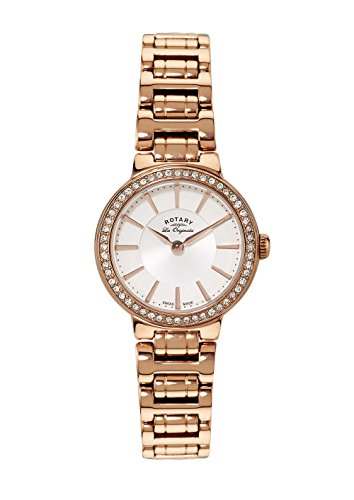 Rotary Watches Women's Lucerne Swiss White Dial Rose Gold Stainless Steel BraceletLB90085/02