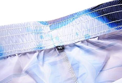 Azuki Mens Swim Trunks Quick Dry Suits Printed Beachwear Loose Swim Shorts with Pockets S-XL