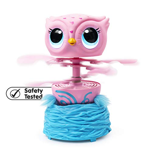 41NE4aK9QlL - Owleez, Flying Baby Owl Interactive Toy with Lights & Sounds (Pink), for Kids Aged 6 & Up