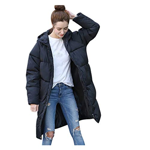 (Long Down Jacket,BeautyVan Women Winter Warm Casual Hooded Thick Slim Black Jacket Long Overcoat)