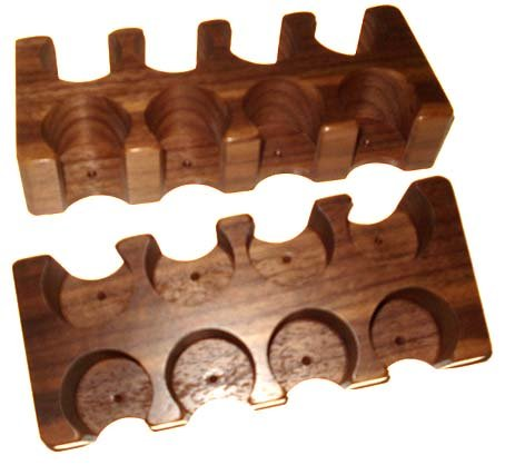 LAMMER / BUTTON RACK - 8 HOLE DOUBLE ROW Casino Style by Spinettis
