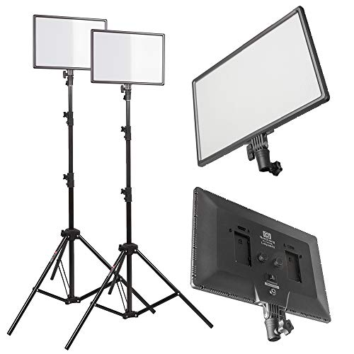 PLTHINK Luxpad 43H 15'' Bi-Color 3200K-5600K LED Lighting and PRO-203 Stand Set for YouTube Creator, Beauty Makeup, Live Streaming, Portrait Shooting, and Various Video Shooting(2 Stand Set) by PLTHINK (Image #6)