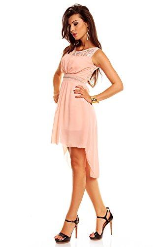 Vokuhila Kleid mit Spitze Sommerkleid Partykleid Abendkleid ...