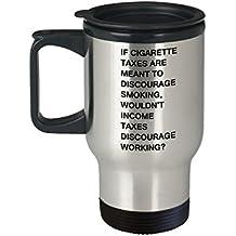 Good morning handsom mug - Cigarettes & Income Tax Funny Mugs Morning Coffee - Porcelain Funny Travel Mug, Best Office Travel Mug & Coffee Cup Gifts 1