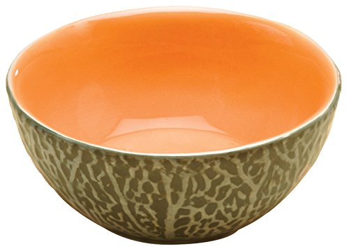 Cantaloupe Dipping Bowl, Set of 2 Collectible Fruit Ceramic Glass