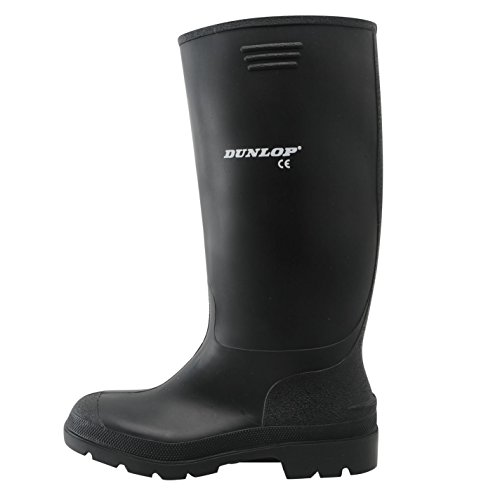 Dunlop Mens Genst Welly Wellies Wellington Boots Nero 8 (42)