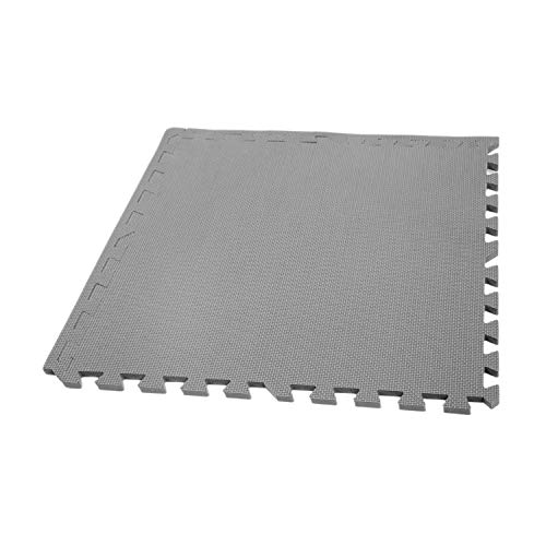 Graphite Dvd - IncStores Eco Soft+ Foam Tiles (26 Tiles, Graphite) Interlocking Foam Flooring Mats with Removable Edges
