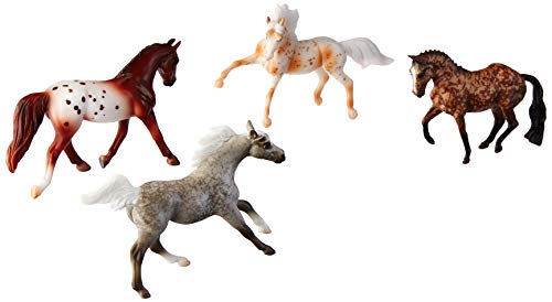 Breyer Stablemates Dapples & Dots Horse Toy Set (1: 32 Scale), Multicolor