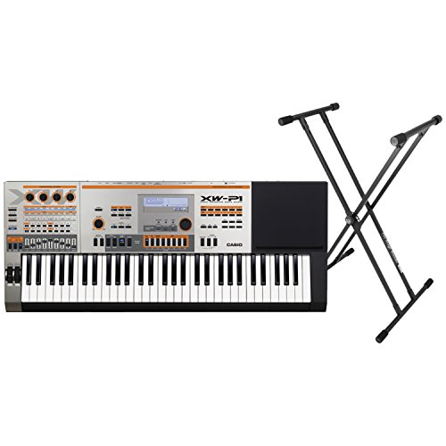 Casio XW-P1 61-key Synthesizer Bundle w/ Double X Keyboard Stand by Casio