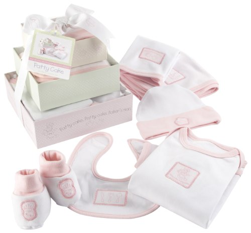 Baby Aspen Patty Cake 6-Piece Layette Set with Gift Box Tower