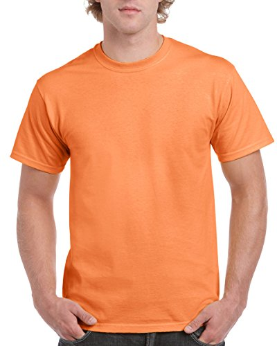 Gildan G200-6.1 Ounce Ultra Cotton Tee 100% Cotton T-Shirt. 2000 in 68 Colors TANGERINE Size Medium