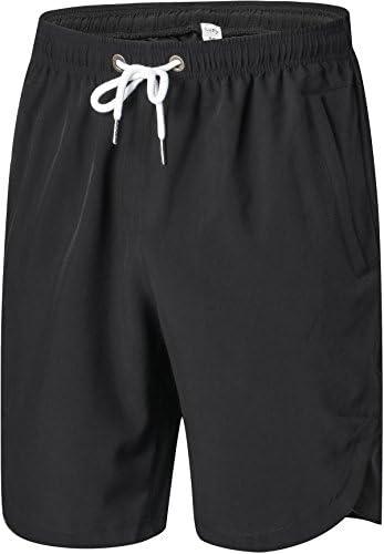 Para hombre Athletic pantalones cortos Cintura elástica–Secado rápido elástico para entrenamiento de running, Gimnasio, Entrenamiento–Swim Trunks para deportes acuáticos