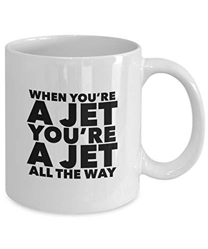 GANTEE - When YOU'RE a JET Mug - West Side Story Inspired - Tony & Maria - Broadway Musical Theatre Fan Gift - 11 oz white coffee tea cup MUG 11oz