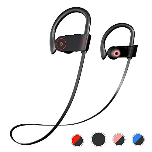 Otium Bluetooth Headphones, Best Wireless Sports Earphones w/Mic IPX7 Waterproof HD Stereo Sweatproof in-Ear Earbuds Gym Running Workout 8 Hour Battery Noise Cancelling Headsets