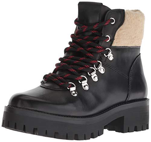 - Steve Madden Women's Broadway Fashion Boot, Black Leather, 7.5 M US
