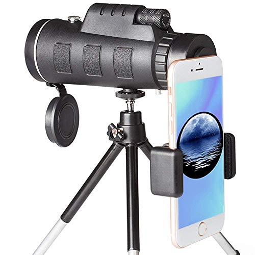 Monocular Telescope, 40x60 High Powered Monocular with Smartphone Adapter & Tripod for Bird Watching Hunting Hiking Travelling by PETACT-A
