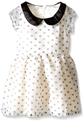 The Children's Place Baby-Girls Short Sleeve Peter Pan HRT Dress, Cloud, 12-18 Months (Baby Peter Pan compare prices)